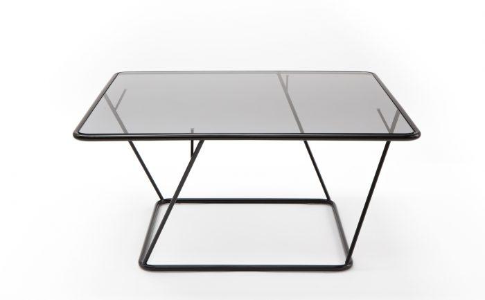 Designer Couchtisch freebird schwarz mit Glasplatte_Sebastian Frank