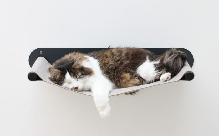 Katzenhängematte swing schwarz_pet-board_Design Sebastian Frank